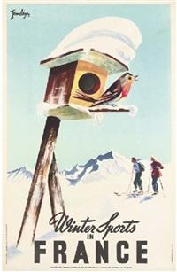 winter sports in france by j. leger