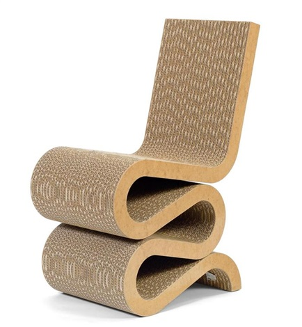 chaise modèle wiggle by frank gehry