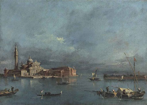 view of san giorgio maggiore venice with the punta del giudecca by francesco guardi