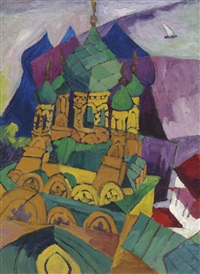 church in alupka by aristarkh vasilevich lentulov