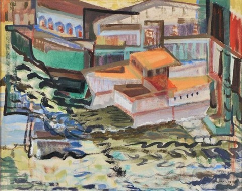 boats on a river by clara l deike
