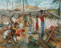 island scene (new guinea series) by margaret hannah olley