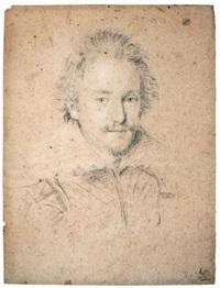 portrait of lorenzo cenami, bust length by ottavio maria leoni