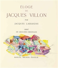 éloge de jacques villon (album of 10 w/title, justif. & text by jacques lassaigne) by jacques villon