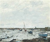 low water, newlyn by ken howard
