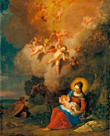szent család by cornelis van poelenburgh