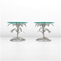 floriform side tables (pair) by arthur court