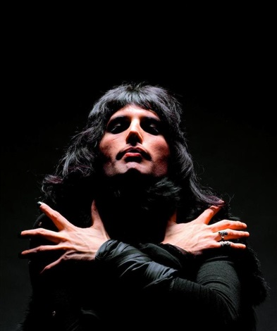 Freddie Mercury from the Queen II album cover by Mick Rock