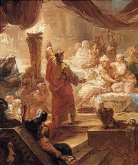 the feast of belshazzar by françois bruno deshays de colleville