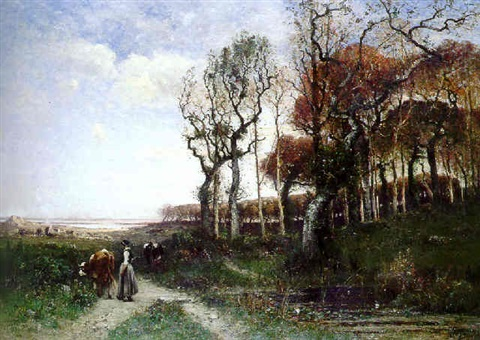 the countryside path by louis aimé japy