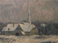 l'église sous la neige by charles frechon