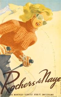 rochers de naye by herbert b. libiszewski