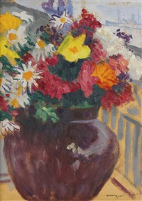 bouquet sur un balcon by albert marquet