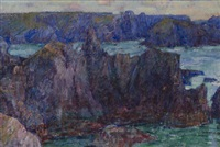 entrance to a fjord, belle-île (l'entree d'une fjord) by john peter russell