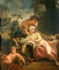 scène de bacchanale by louis joseph le lorrain