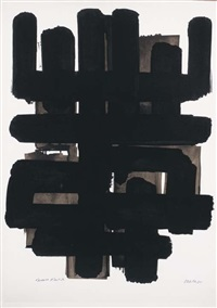 lithographie n° 3 by pierre soulages