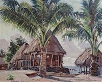 tahitian huts by charles mcphee