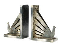 bird bookends (pair) by henri fournier