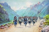 manoeuvre dans la haute vallée de l'ubaye (le 159e rég. d'infanterie alpin de briançon) by bernard rambaud
