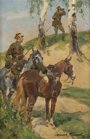 lancers patrol by woiciech aldabert ritter von kossak