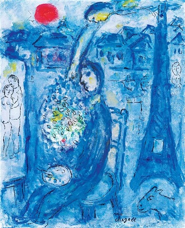 Linspiration du peintre by marc chagall on artnet for Chagall peintre