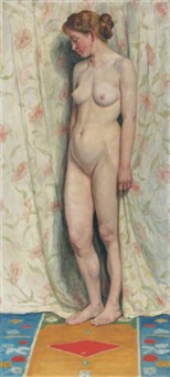 stehender weiblicher akt (standing female nude) by sigismund righini