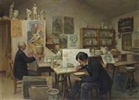 l'artiste dans son atelier by edouard dammouse