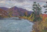 paysage d'altaï by mikhail nikolaevich yakovlev