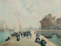 le port de concarneau by fernand marie eugène legout-gérard