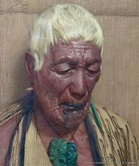 relics of a bygone age, mere werohia, a chieftainess of the ngati te rori te rangi hapu of the ngatiwhakane tribe, rotorua by charles frederick goldie