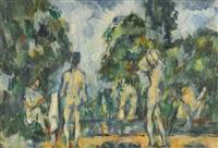 baigneurs by paul cézanne
