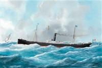 bateau à vapeur le phryne by édouard adam