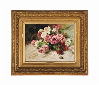 still life with roses by georges jeannin