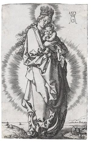 maria mit der sternenkrone by heinrich aldegrever
