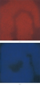 red (+ blue; 2 works) by jiang dahai