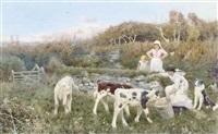 feeding the cows by thomas james lloyd