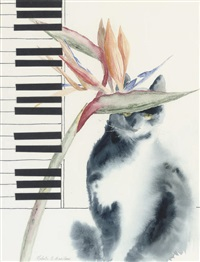piano cat by roberta e. merrilees