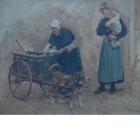 the dog cart by marie françois firmin girard
