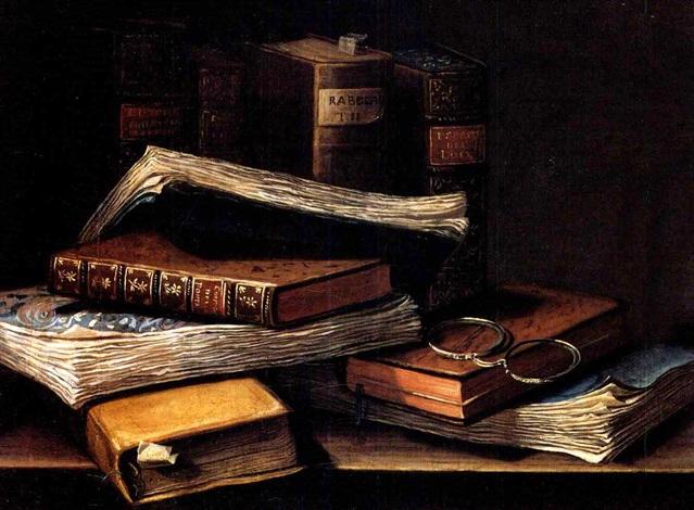 nature morte aux livres et aux bésicles by n labatie