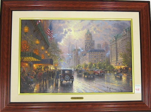 new york fifth avenue by thomas kinkade