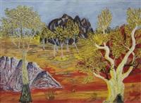 central australian landscape by henri bastin
