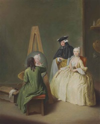 the painter's studio by pietro longhi