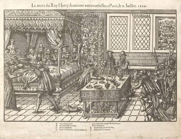 et la mort du roy henry deuxième aux tournelles à paris le x juillet by tortorel perissin