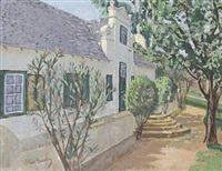 cape cottage scene by johan buning