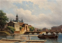 view of the leidsepoort by eduard alexander hilverdink