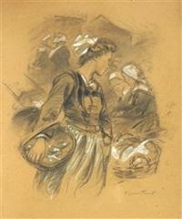 jeune bretonne au panier de sardines by achille granchi-taylor