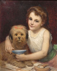 fillette au chien by pierre louis de coninck