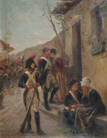 le départ du militaire by henri charles e dujardin beaumetz
