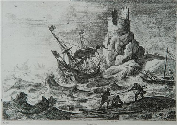 le naufrage by claude lorrain