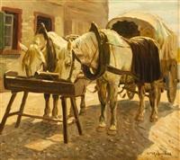 pferde an der tränke by fedor ivanovich melnikov